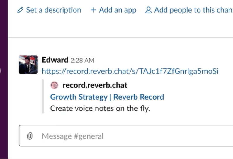Sharing an audio recording on Slack