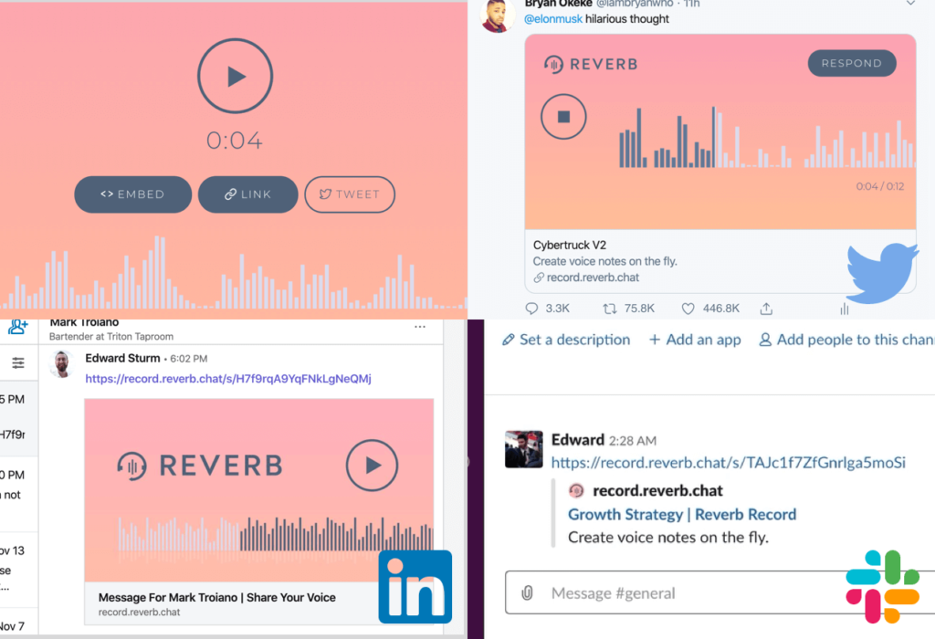 Sharing and embedding of voice memos
