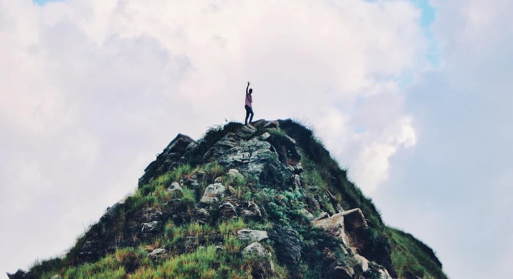 Positively climbing a mountain alone - remote learning requires independence, self-motivation, and proactiveness.