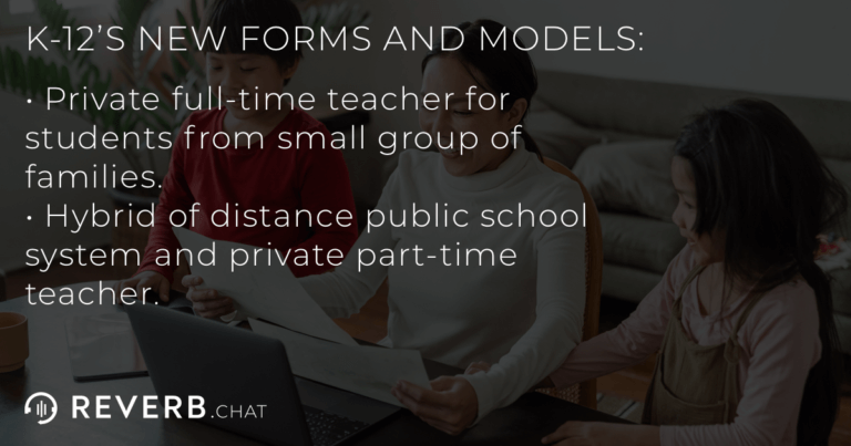 The two new models and forms K-12 education is taking: pod schools and blended public/private distance learning.