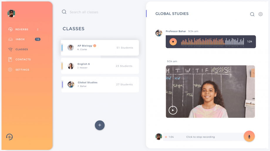 Voice and video portal for distance learning